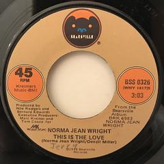 NORMA JEAN WRIGHT:SATURDAY(LABEL SIDE-B)