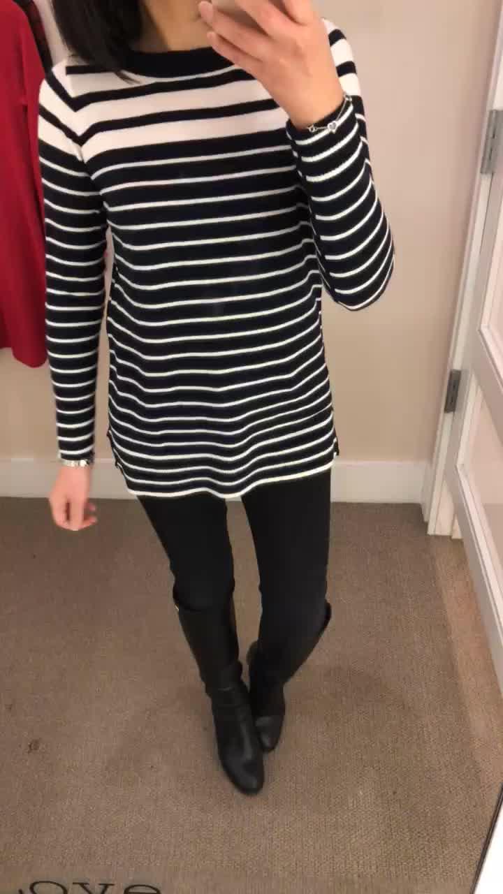 LOFT Gradual Stripe Sweater, size XSP