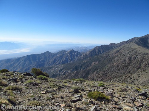 Views across the Panamint Mountains and Death Valley from Rogers Peak, Death Valley National Park, California