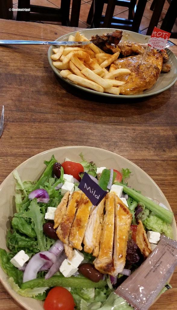 Ruoka-annokset Nando'sissa, Melbourne