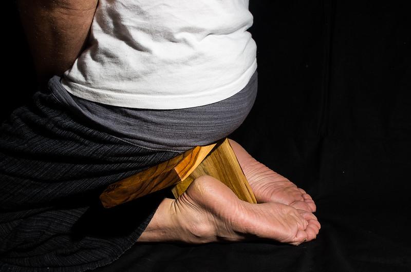 Butaco de meditación plegable