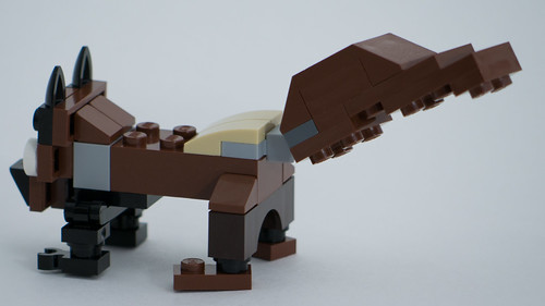 "Christmas Build-Up 2017 Day 22 MOC ""Squirrel!"" Side/Rear"