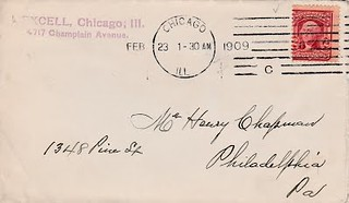 EXCELL, 2_23_1909 Chapman envelope