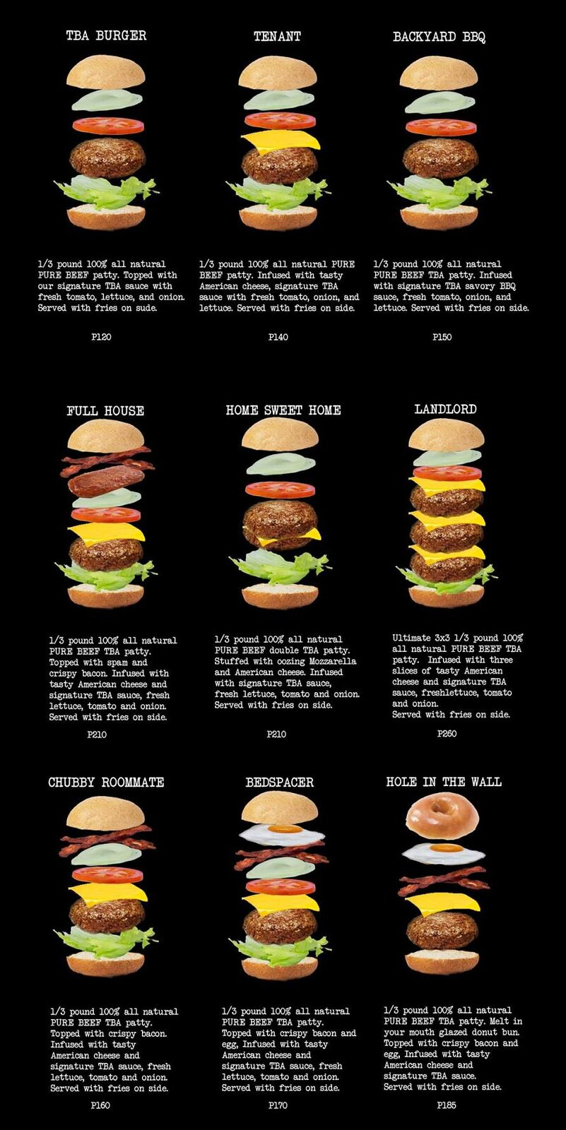 the black apartment burgers