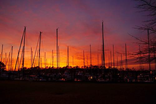 sunset spectacularsunsetsandsunrises cloudsstormssunsetssunrises clouds cloudscape redclouds marina northwestcreek northcarolina sony sonya58 sonyphotographing