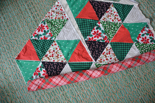 Quilting - Roll up one side of the quilt to go in the sewing machine's harp.