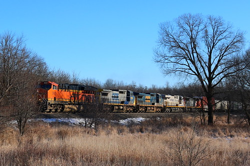 BNSF 3935, GECX 7356, 7387, CREX 1505, CN 5779, Guhl, Readfiled, 6 Jan 18
