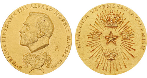 Nobel Prize medal for Economic Sciences