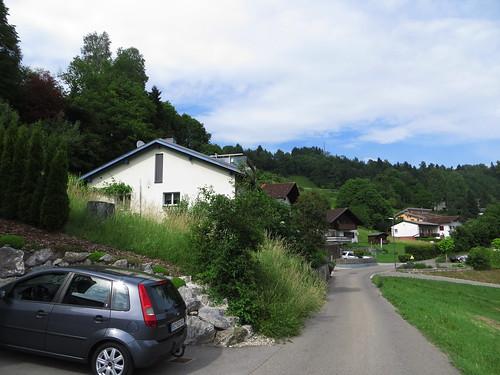 20170614 04 336 Jakobus Thüringen Berge Schnee Häuser Wald Weg