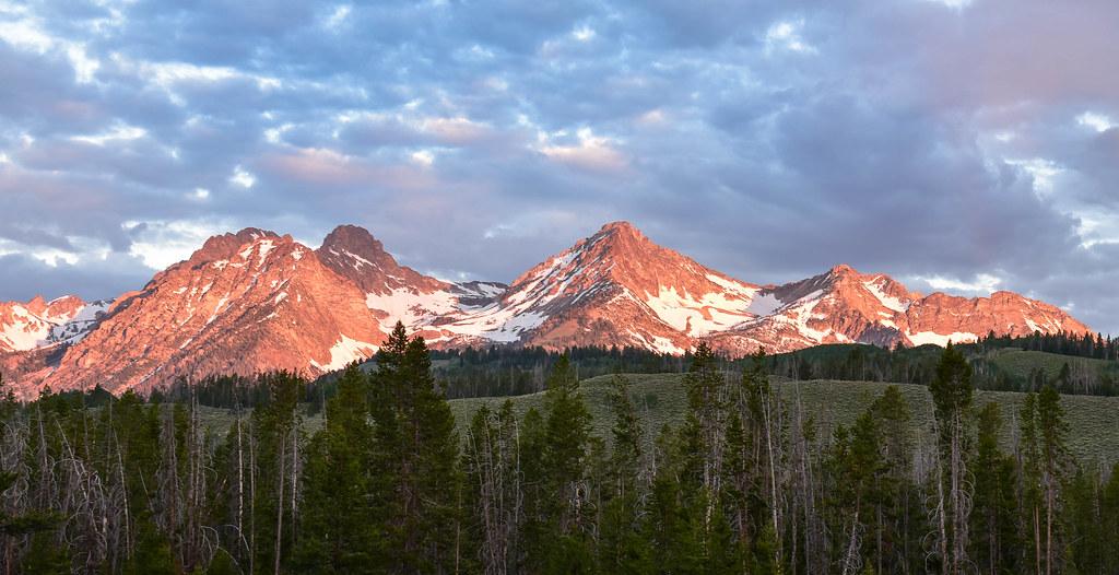Sunrise on Mountains in Idaho - explored