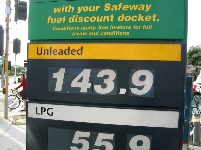 Petrol prices, December 2007