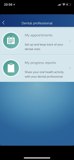 Philips Sonicare iOS App - Tools - Dental Professional