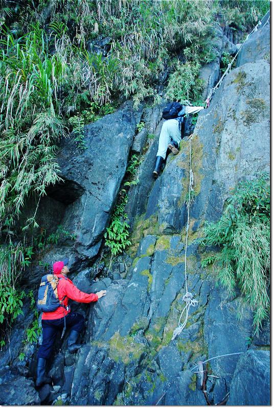 乾溪谷垂直石壁地形 1
