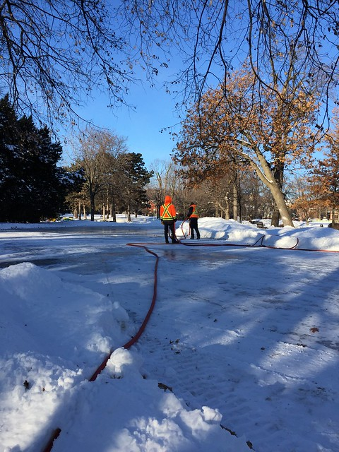 Preparing the Outdoor Rink