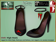 Bliensen -Chili - High Heels - black