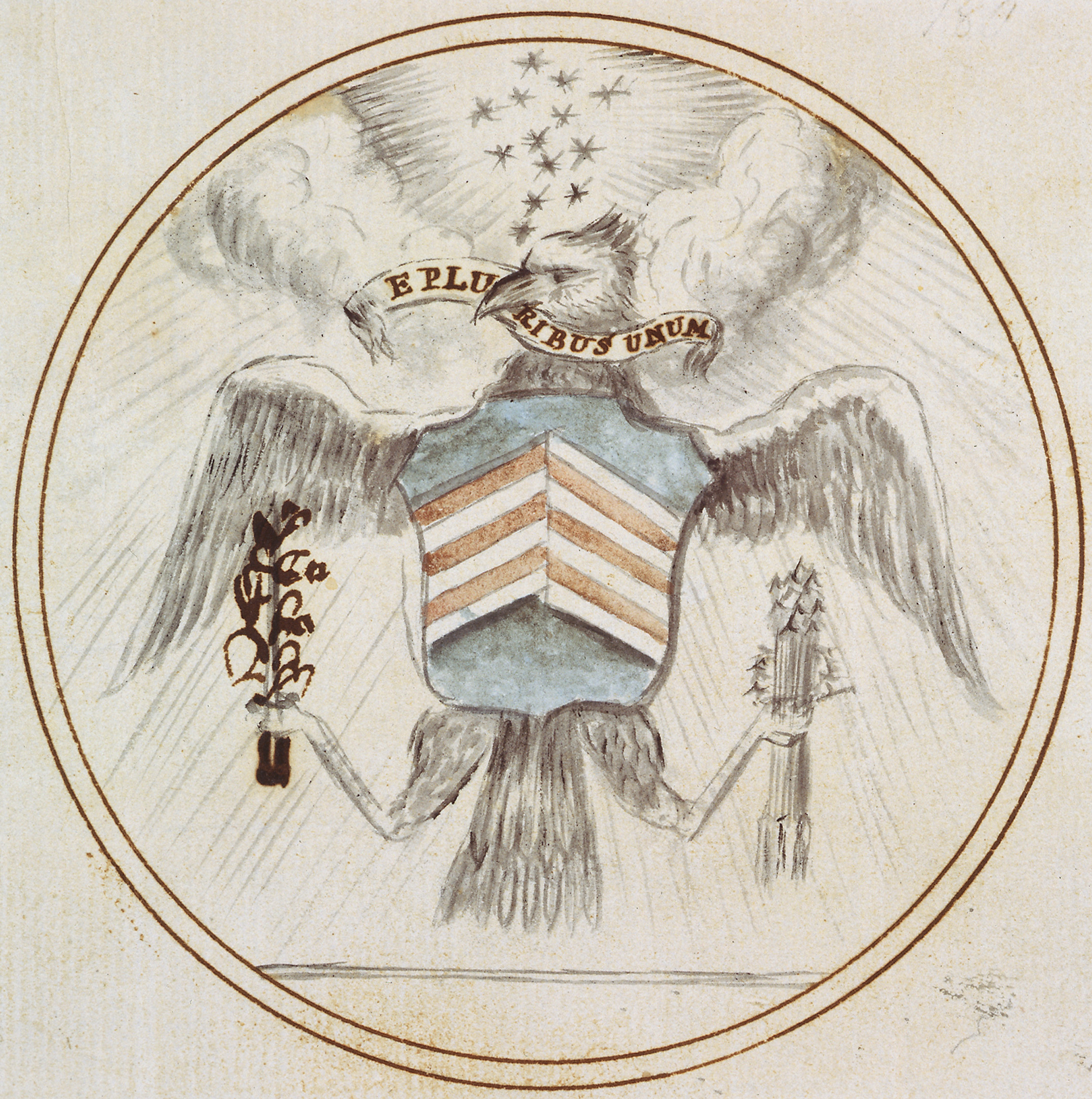 Preliminary design for the Great Seal of the United States, 1782