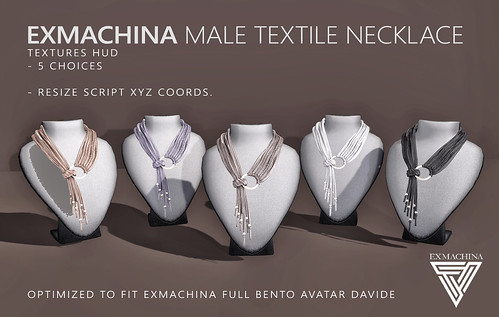 EXMACHINA textile necklace