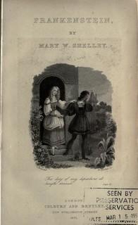 1831 edition of Frankenstein image 1