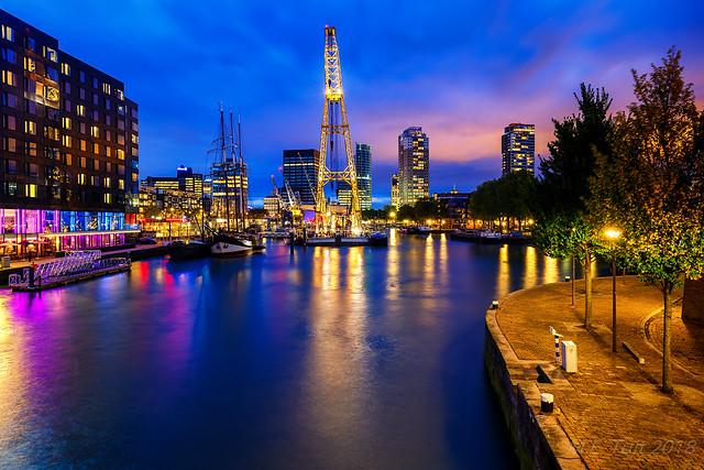 Golden crane @ Rotterdam