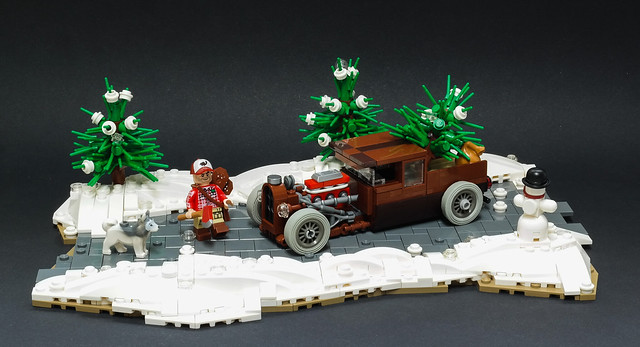 Christmas Chopper Uses A Hot Rod The Brothers Brick