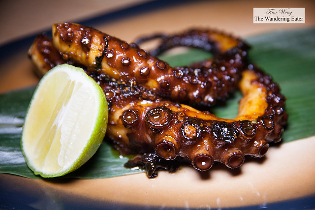 Grilled caramelized octopus