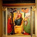Perugia (Italia). Galería Nacional de Umbría. Retablo de la Vieja Sabiduría, 1518. Domenico di Paride Alfani