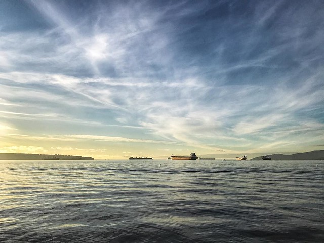 I never tire of this view. #englishbay #newyearsday #vancouver