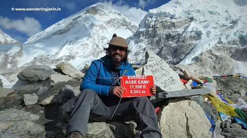 Wandering Jatin at Everest Base Camp