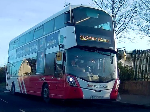 Dashcam Shot of VWD88 172L1190 Route 302 Cratloe Road Baptist Church on Sunday 7th January 2018 151854