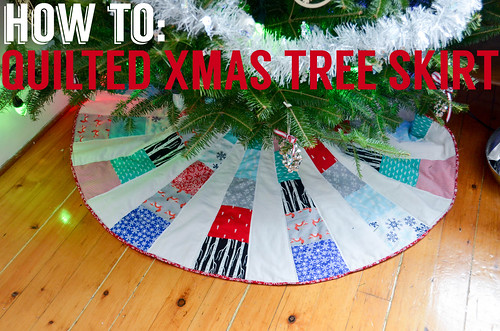 Circular, Wedge Quilted Xmas Tree Skirt Tutorial