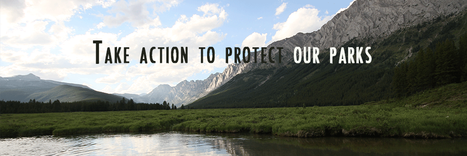 Take action to protect our parks