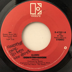 QUEEN:ANOTHER ONE BITES THE DUST(LABEL SIDE-A)