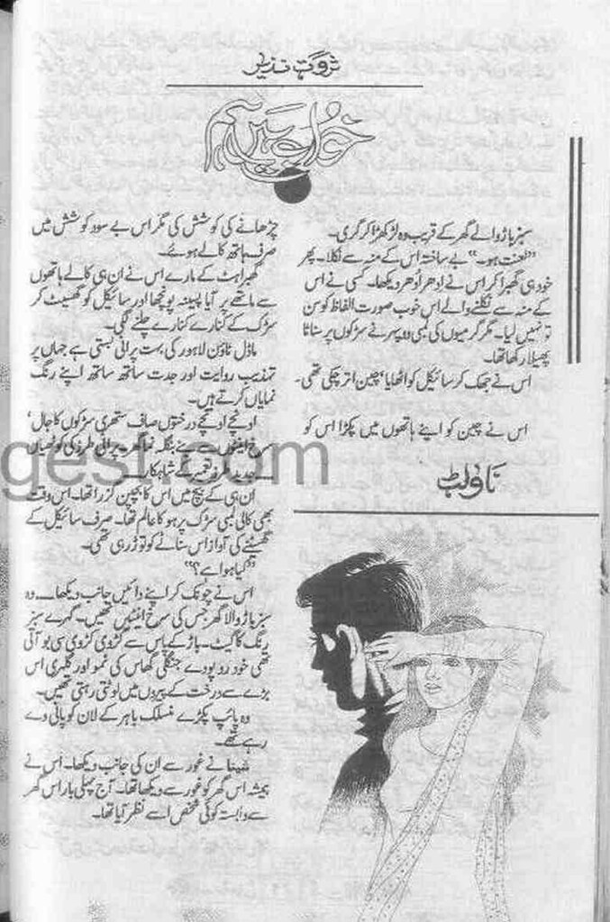 Khawab Hein Hum is a very well written complex script novel by Sarwat Nazeer which depicts normal emotions and behaviour of human like love hate greed power and fear , Sarwat Nazeer is a very famous and popular specialy among female readers