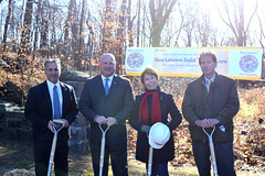 (From left to right): Reps. Fred Camillo (R-151), Mike Bocchino (R-150), Livvy Floren (R-149) and Sen. Scott Frantz (R-36) at the groundbreaking for New Lebanon School in Greenwich.