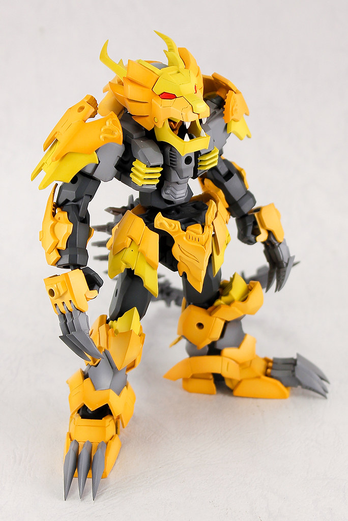 獅子完全變形為機器人!PLUM  PLA-ACT 原創機體「08:牙王」(プラアクト08:牙王 ) 無比例組裝模型