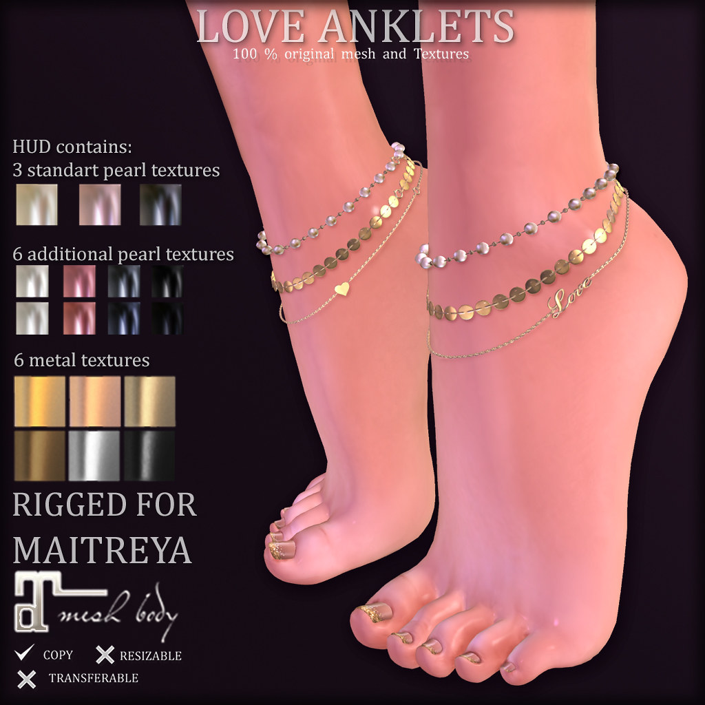 LOVE ANKLETS (SOON at TCF)