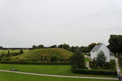 burial mound and white chapel