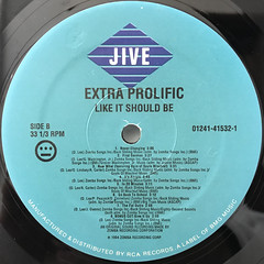 EXTRA PROLIFIC:LIKE IT SHOULD BE(LABEL SIDE-B)