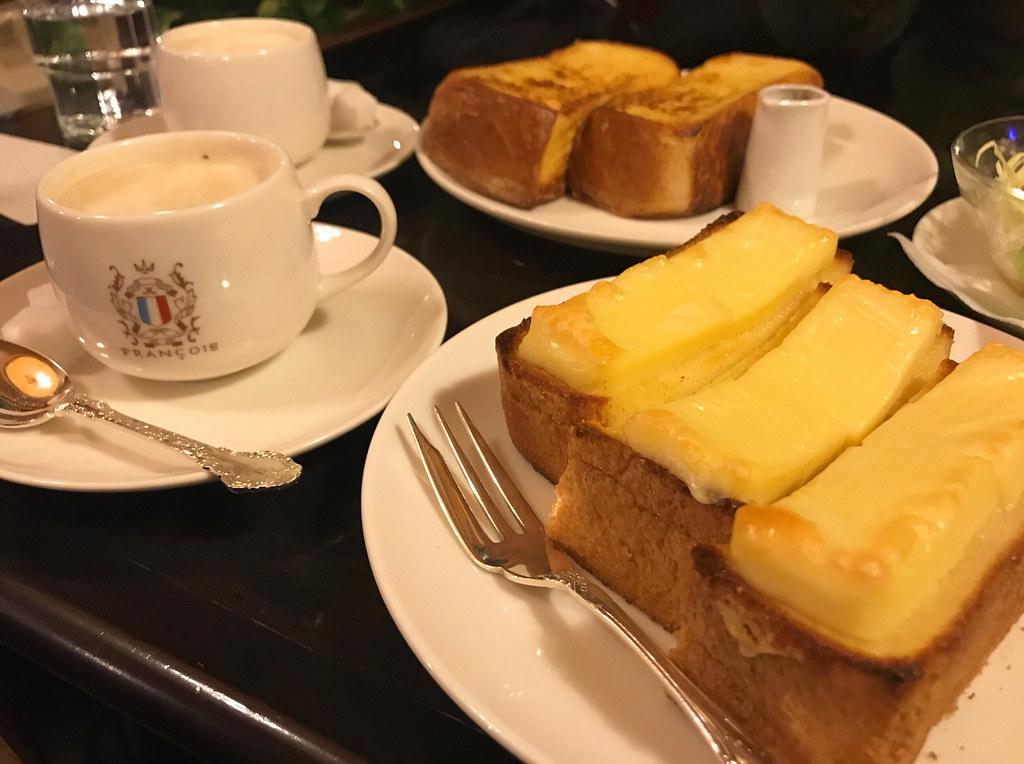 フランソア喫茶室コーヒーとチーズトースト