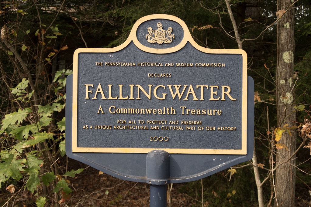 Fallingwater historical marker sign