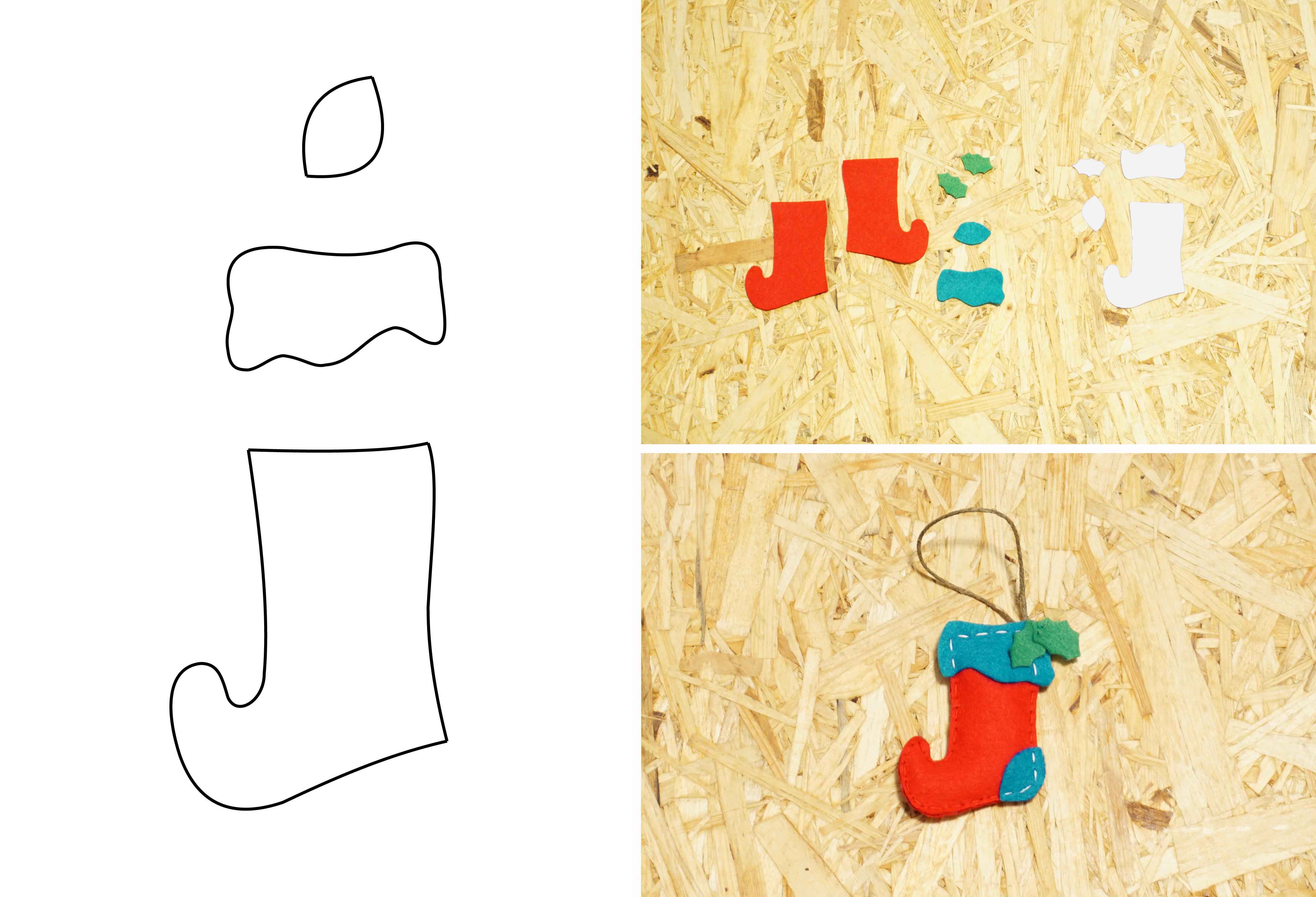 DIY: Елочные украшения из фетра