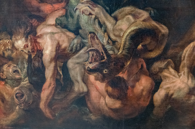 The Fall of The Damned (detail - lower left corner)