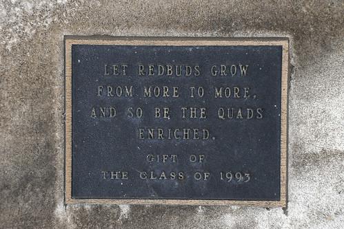 Class of 1993 gift plaque, Social Science quadrangle