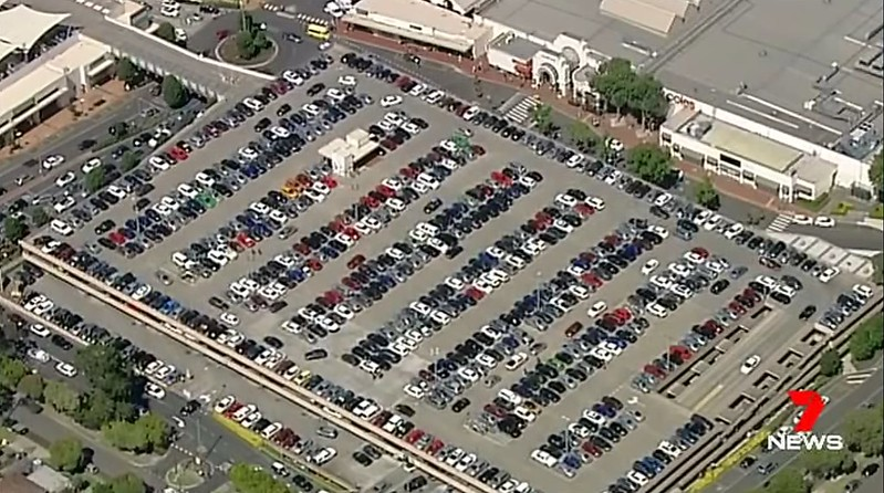 Chadstone car park, Boxing Day (Channel 7)