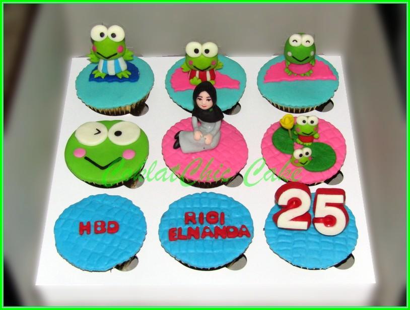 Cupcake set Keropi RICI