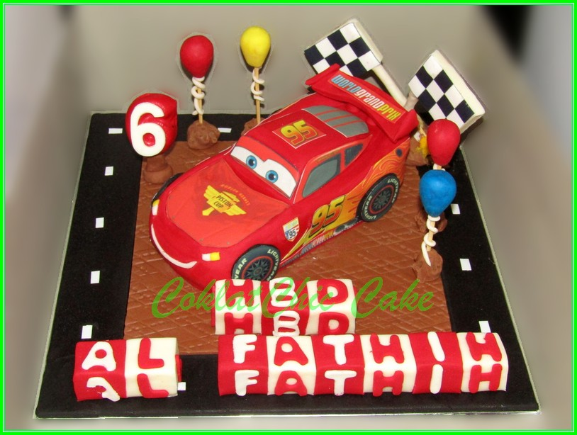cake Lightning McQueen Disney Cars AL FATHIH 15cm