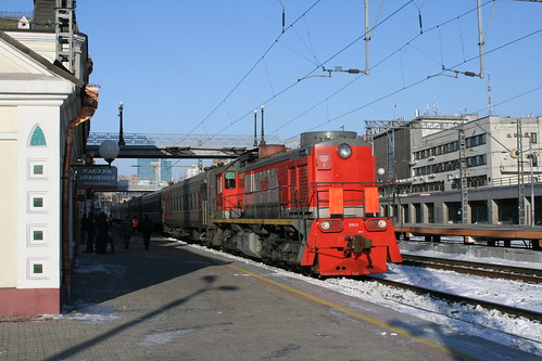 Russian Railways ТЭМ2 series in Vladivostok.Sta, Vladivostok, Primorsky Krai, Russia /Jan 3, 2018