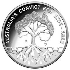 Australia's Convict Era silver coin reverse