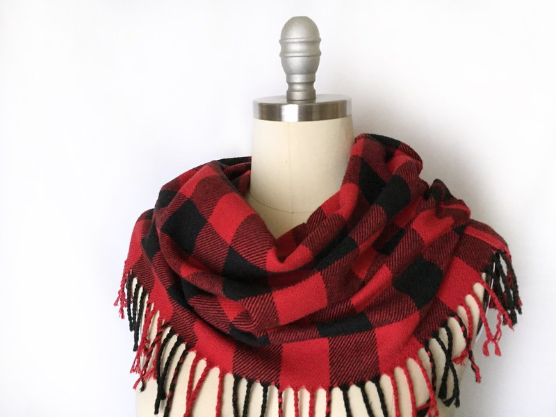 Buffalo Plaid Cowl - After