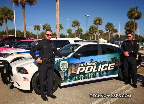 Orlando Police Dodge Charger Wrap